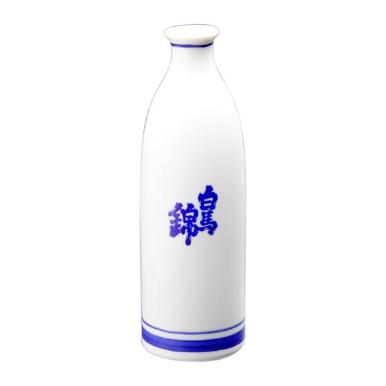 二合徳利「白馬錦」ロゴ入