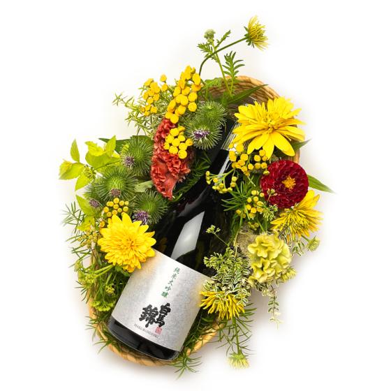 白馬錦 純米大吟醸 in 季節の花かご
